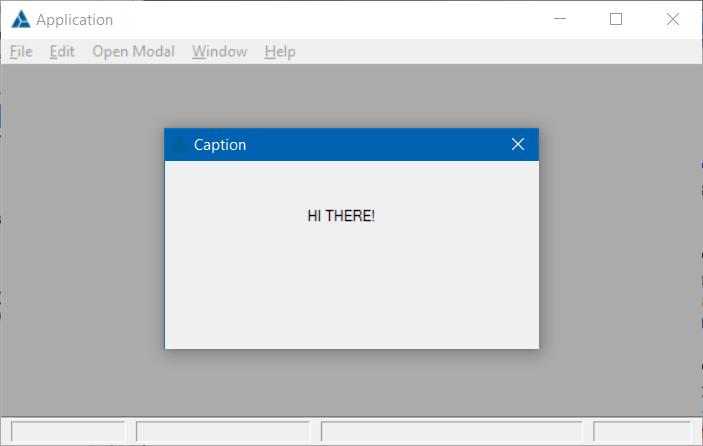How to fake an MDI modal window - The Paste Bin - ClarionHub