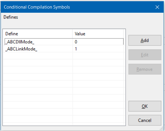 How Do I Quickly Edit A Big List Of Conditional Compile Symbols