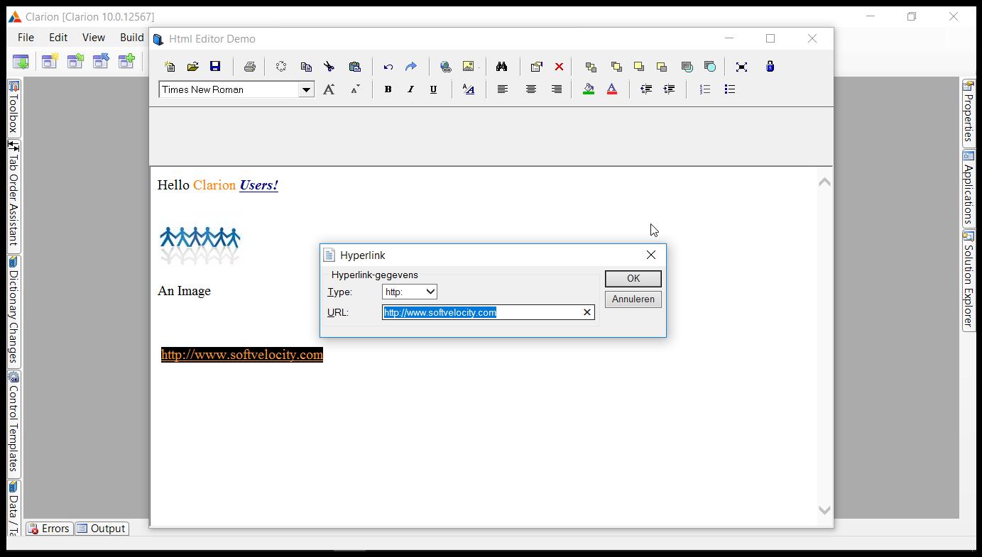 Free HTML Editor inside Clarion - code - ClarionHub